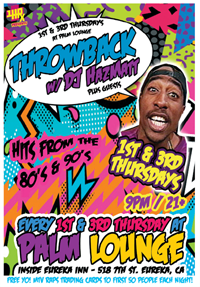 1st & 3rd Thursdays - Throwback! w/ DJ HazMatt at the Palm
